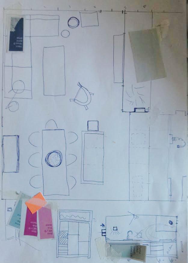 Keuken Afzuigkap Verplaatsen : De overzichtstekening van hoe het moet worden. Het keukeneiland kwam
