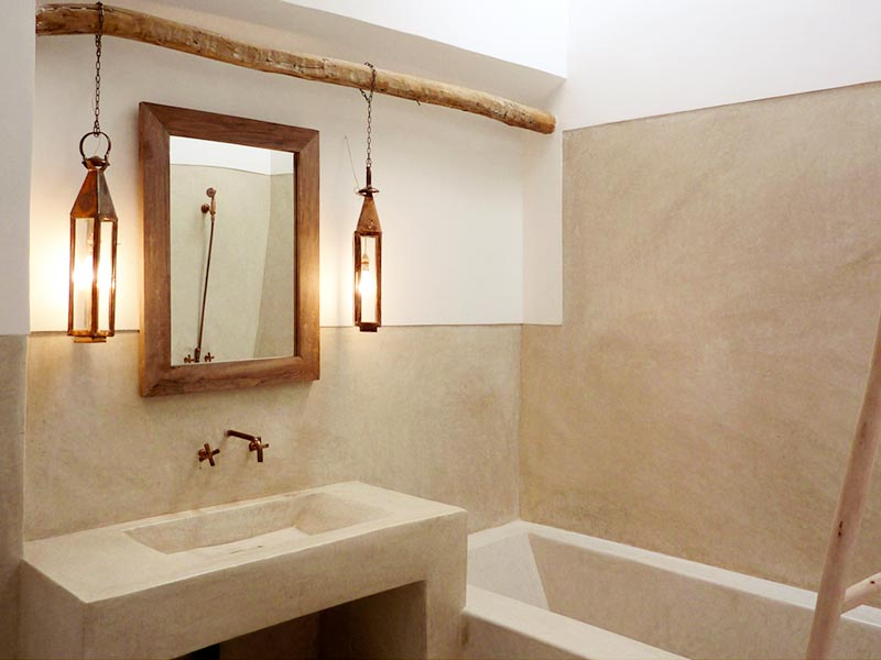 Badkamer inspiratie marloes wonen - Tadelakt salle de bain ...